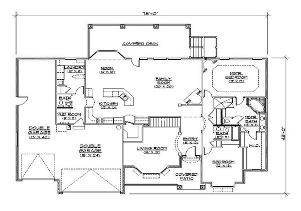 European Floor Plan - Main Floor Plan Plan #5-279