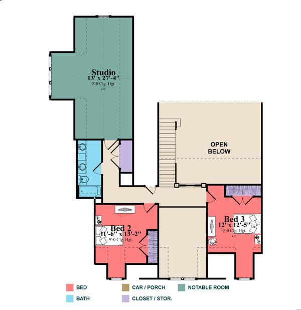 Bungalow Floor Plan - Lower Floor Plan Plan #63-404