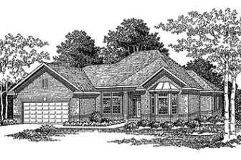 Traditional Style House Plan - 3 Beds 3 Baths 2280 Sq/Ft Plan #70-362 Exterior - Front Elevation