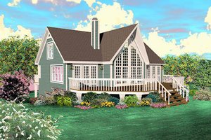 Country Exterior - Front Elevation Plan #81-13785