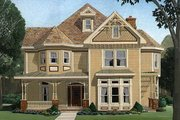 Victorian Style House Plan - 4 Beds 3.5 Baths 2772 Sq/Ft Plan #410-104 Exterior - Front Elevation
