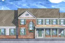 Country Exterior - Front Elevation Plan #1029-17