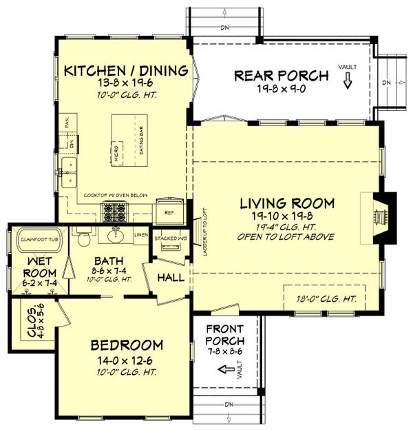 Farmhouse Floor Plan - Main Floor Plan Plan #430-177