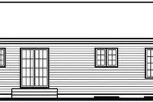 Cottage Exterior - Rear Elevation Plan #23-691