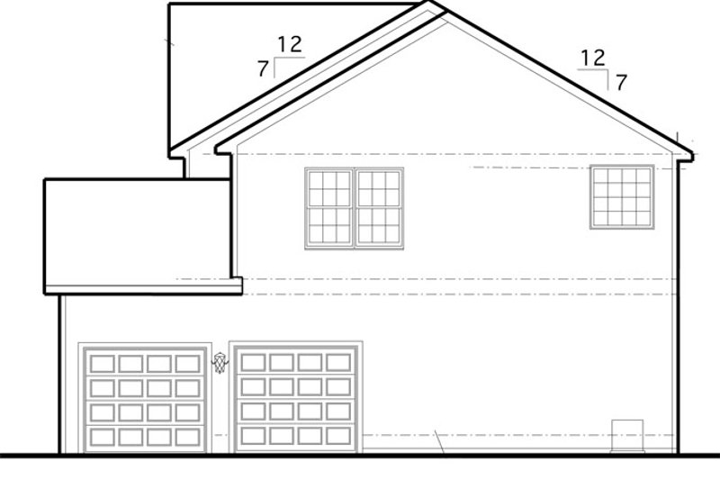 Traditional Exterior - Other Elevation Plan #1053-55 - Houseplans.com
