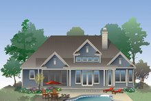 Craftsman Exterior - Rear Elevation Plan #929-981