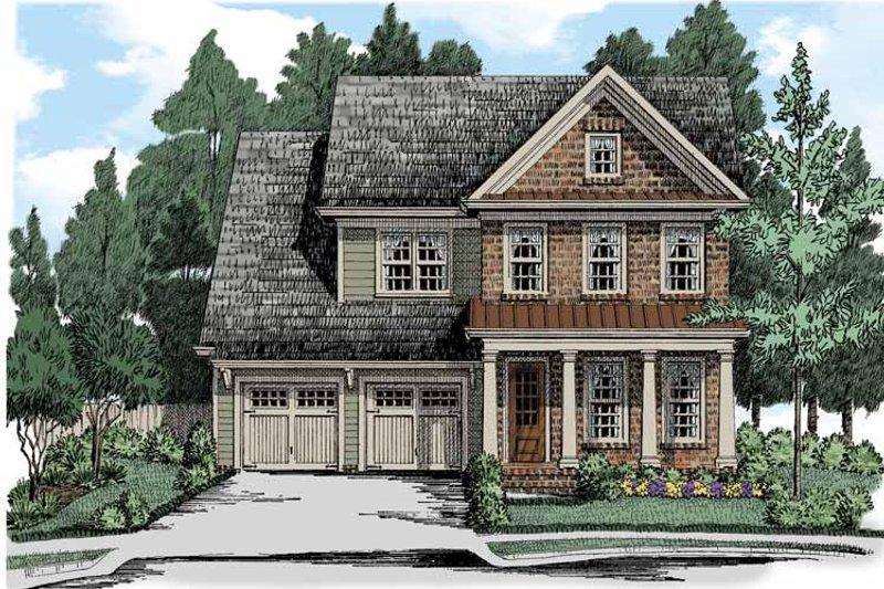 Colonial Exterior - Front Elevation Plan #927-508 - Houseplans.com