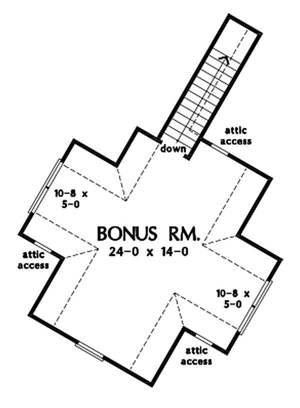 House Plan Design - Ranch Floor Plan - Upper Floor Plan #929-1088