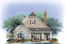 Craftsman Exterior - Rear Elevation Plan #929-869