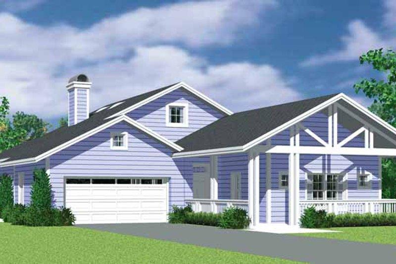 House Blueprint - Craftsman Exterior - Front Elevation Plan #72-1137