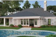 Ranch Style House Plan - 3 Beds 3.5 Baths 2403 Sq/Ft Plan #119-435 Exterior - Rear Elevation