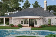 Ranch Exterior - Rear Elevation Plan #119-435