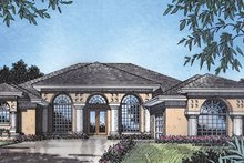 Mediterranean Exterior - Front Elevation Plan #417-807