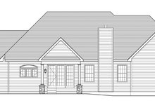 Colonial Exterior - Rear Elevation Plan #1010-88