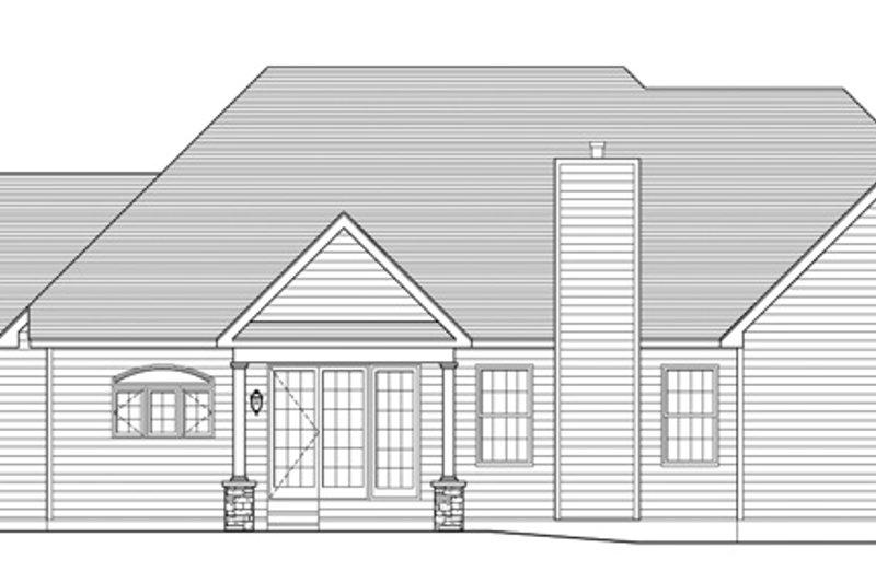 Colonial Exterior - Rear Elevation Plan #1010-88 - Houseplans.com