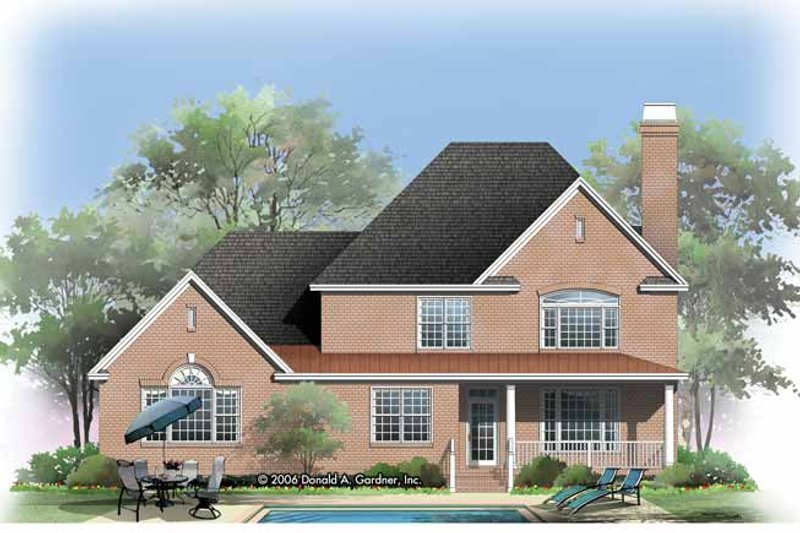 Traditional Exterior - Rear Elevation Plan #929-794 - Houseplans.com