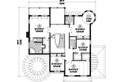 European Style House Plan - 5 Beds 3 Baths 5609 Sq/Ft Plan #25-4690 Floor Plan - Upper Floor Plan