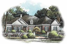 Home Plan Design - Traditional Exterior - Front Elevation Plan #429-240