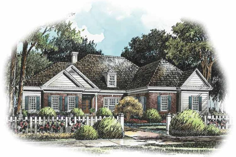 Traditional Exterior - Front Elevation Plan #429-240 - Houseplans.com