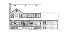 Victorian Exterior - Rear Elevation Plan #47-847