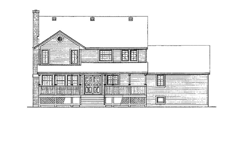 Victorian Exterior - Rear Elevation Plan #47-847 - Houseplans.com