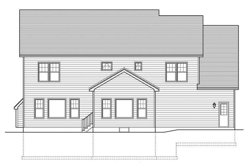 Colonial Exterior - Rear Elevation Plan #1010-155 - Houseplans.com