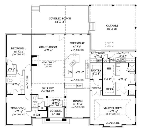 European Floor Plan - Main Floor Plan Plan #119-418