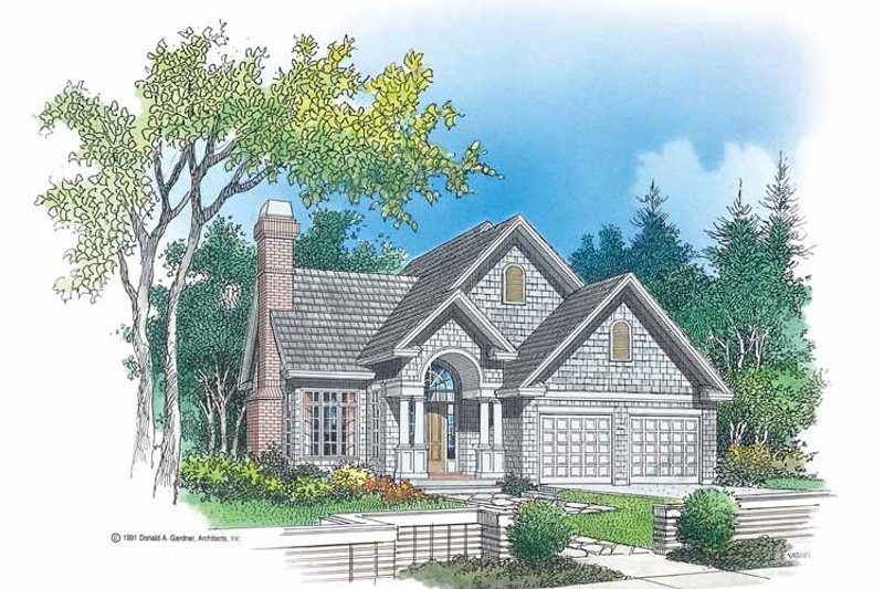 Country Exterior - Front Elevation Plan #929-93