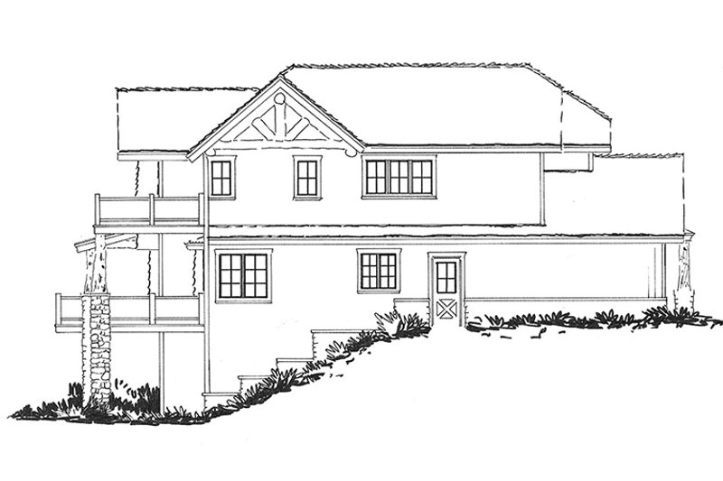 Cabin Exterior - Other Elevation Plan #942-36 - Houseplans.com