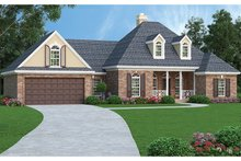 Architectural House Design - Traditional Exterior - Front Elevation Plan #45-567