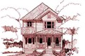 Cottage Style House Plan - 3 Beds 2 Baths 2535 Sq/Ft Plan #79-251 Exterior - Front Elevation