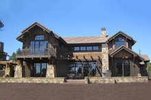 Craftsman style home, rear elevation