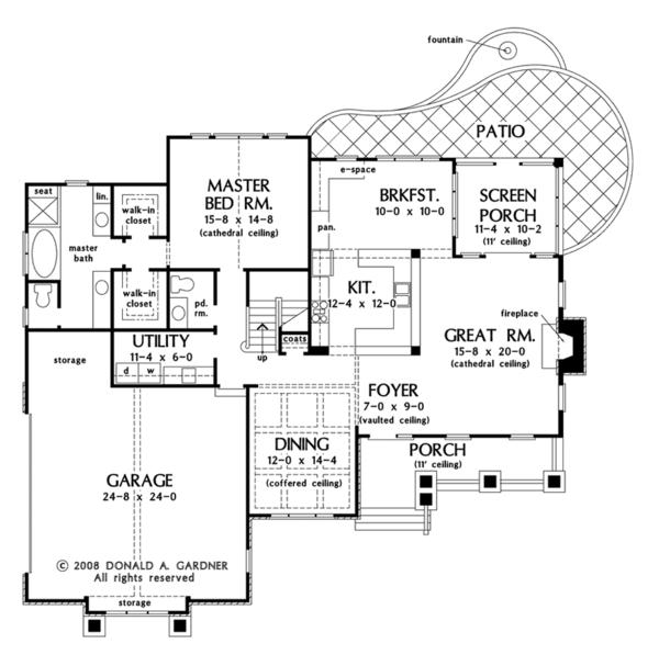 European Floor Plan - Main Floor Plan Plan #929-907