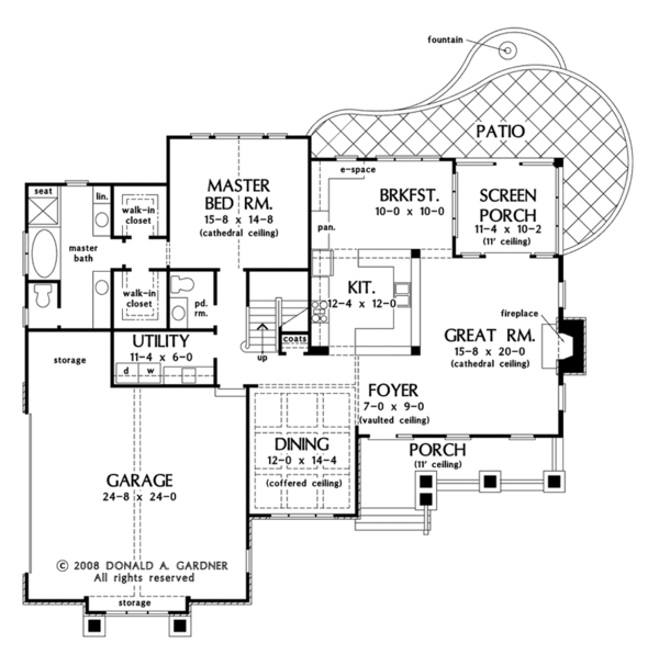 European Floor Plan - Main Floor Plan Plan #929-907