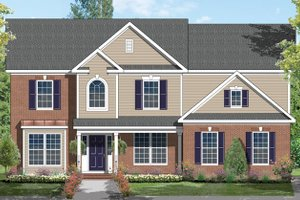 Architectural House Design - Traditional Exterior - Front Elevation Plan #1053-55