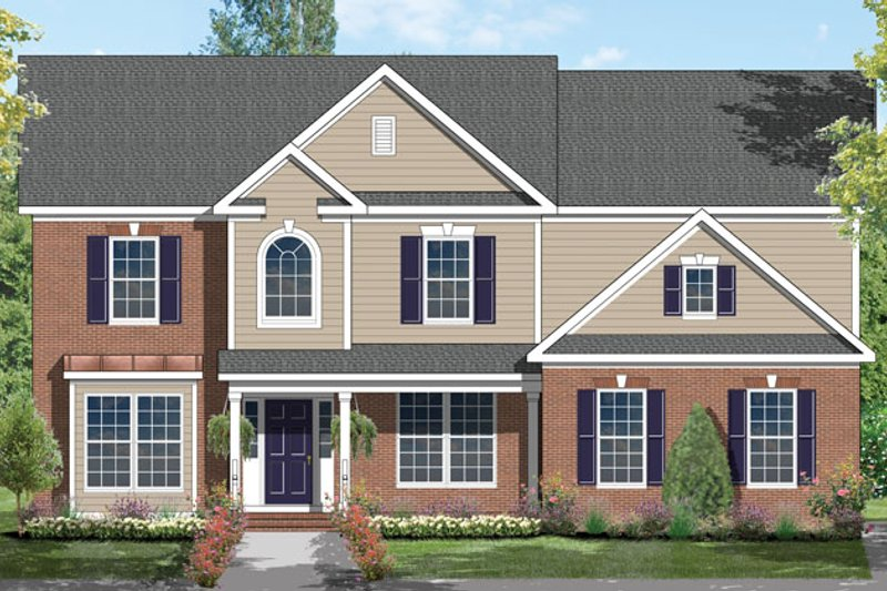 House Plan Design - Traditional Exterior - Front Elevation Plan #1053-55
