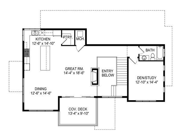 Modern Floor Plan - Upper Floor Plan Plan #920-112