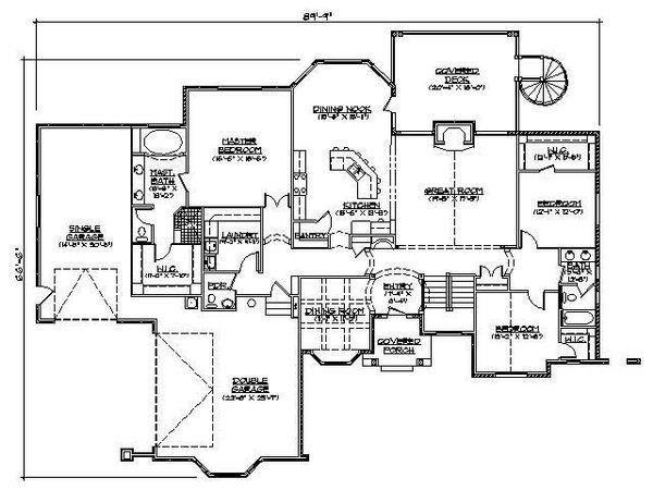 European Floor Plan - Main Floor Plan Plan #5-313