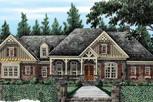 Architectural House Design - Country Exterior - Front Elevation Plan #927-415