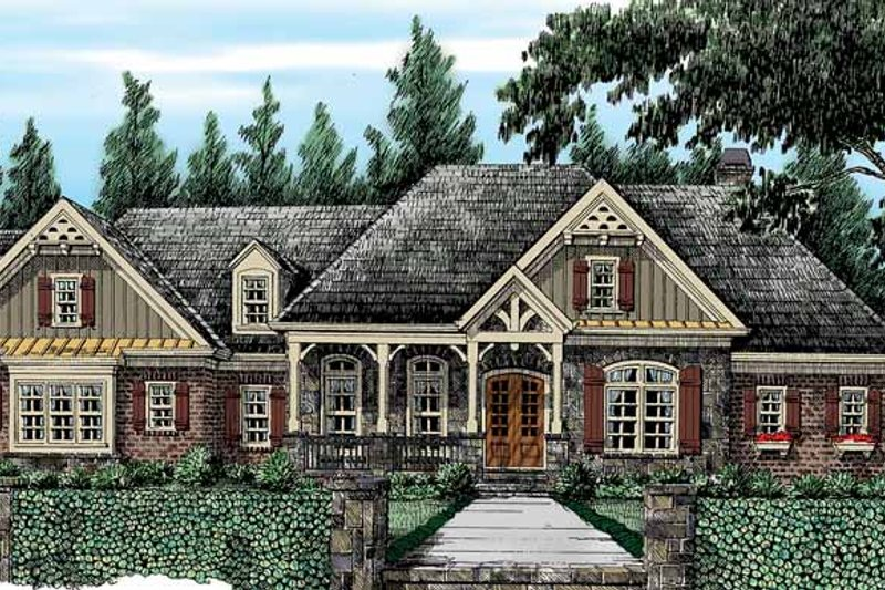 House Plan Design - Country Exterior - Front Elevation Plan #927-415