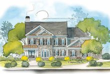 House Plan Design - Colonial Exterior - Front Elevation Plan #429-387