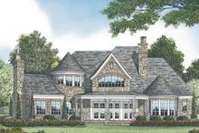 House Plan Design - European Exterior - Rear Elevation Plan #453-582