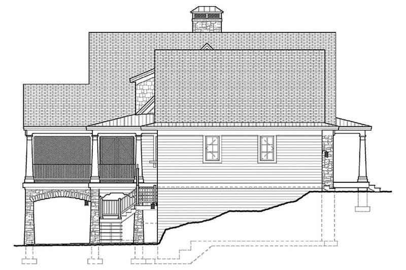 Traditional Exterior - Other Elevation Plan #928-262 - Houseplans.com
