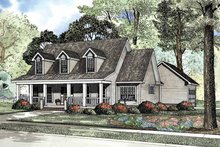 Architectural House Design - Country Exterior - Front Elevation Plan #17-3144
