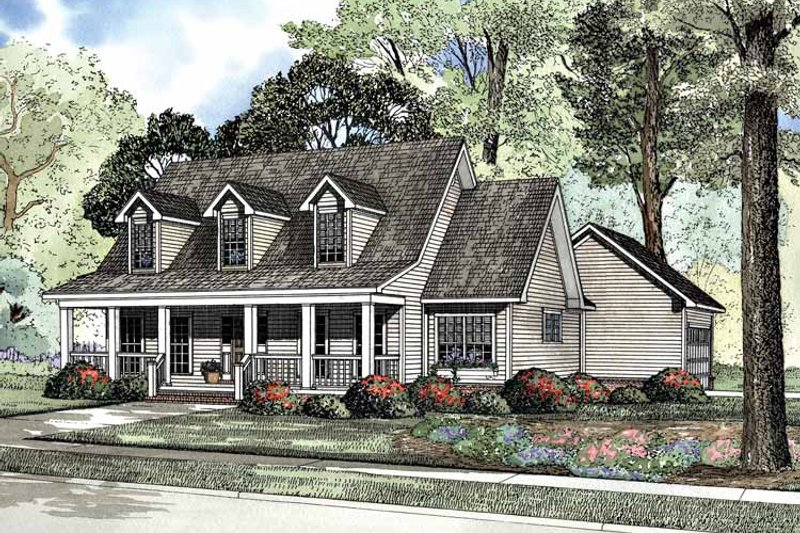 Dream House Plan - Country Exterior - Front Elevation Plan #17-3144
