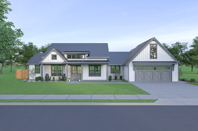 Architectural House Design - Farmhouse Exterior - Front Elevation Plan #1070-93