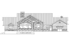 Home Plan - Traditional Exterior - Rear Elevation Plan #5-307