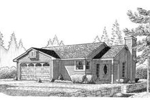 Country Exterior - Front Elevation Plan #410-247