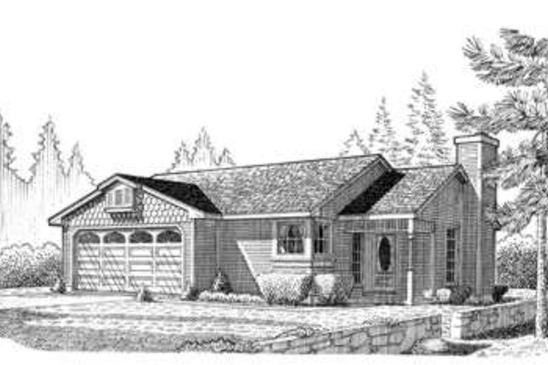 Country Exterior - Front Elevation Plan #410-247 - Houseplans.com