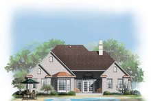 Architectural House Design - European Exterior - Rear Elevation Plan #929-315